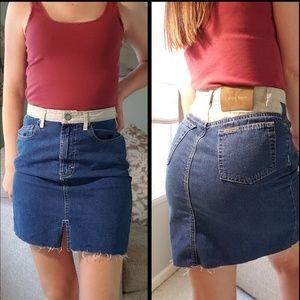 90s Vintage Calvin Klein Denim Jean Skirt